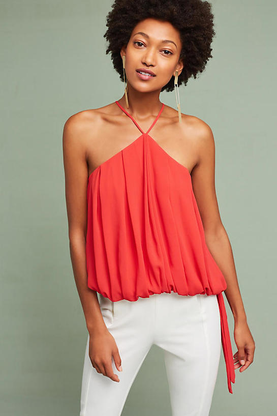 "<p>Sunday in Brooklyn Sammie halter top, $99, <a href=""https://www.anthropologie.com/shop/sammie-halter-top?category=SHOPBYBRAND&color=060"" target=""_blank"">anthropologie.com</a></p>"