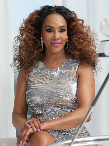 FLARE spoke to actress Vivica A. Fox, in a silver sequin dress, about the Bring it On Anniversary