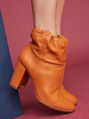 The latest fall shoes trends include slouchy boots