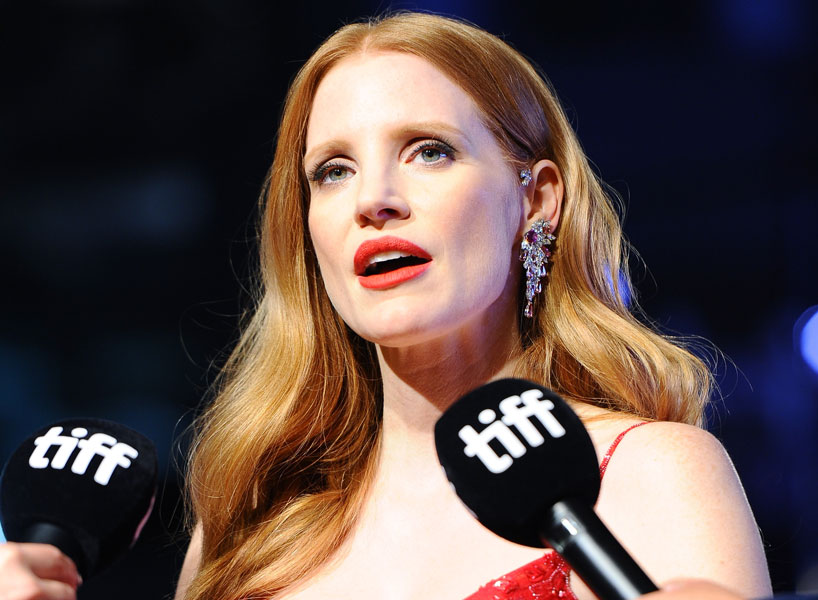 Jessica chastain on gender pay gap on tiff red carpet