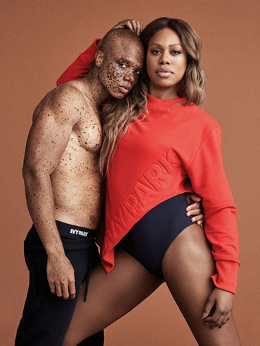 laverne cox with model in ivy park