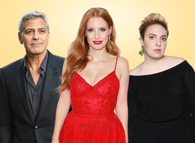 Celebs on Harvey Weinstein like George Clooney, Jessica Chastain, Lena Dunham, and more