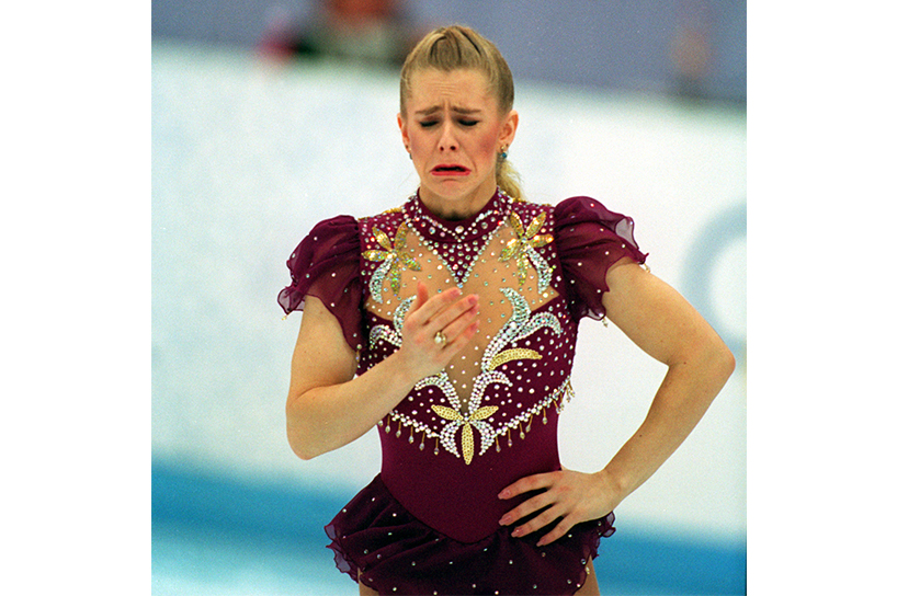 Tonya Harding, depicted in the new I, Tonya teaser, cries at the Lillehammer Olympics; feature image