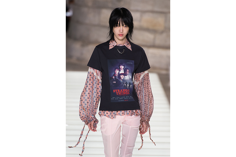 Louis Vuitton showed a Stranger Things t-shirt at Paris Fashion Week