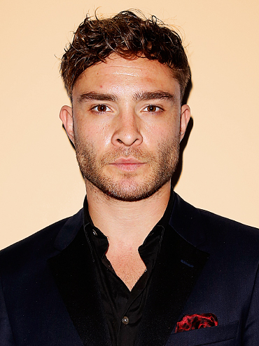 Ed Westwick Rape Allegations: Ed Westwick wearing a black shirt