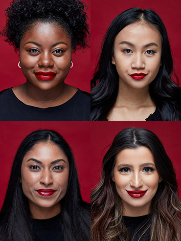 Check out the Fenty Beauty Red Lipstick and eight others on four skin tones