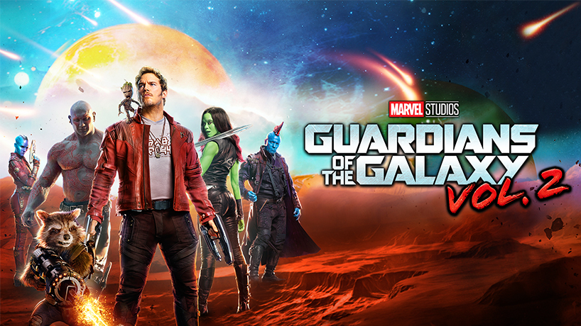 The poster artwork for Guardians of the Galaxy with Chris Pratt and more