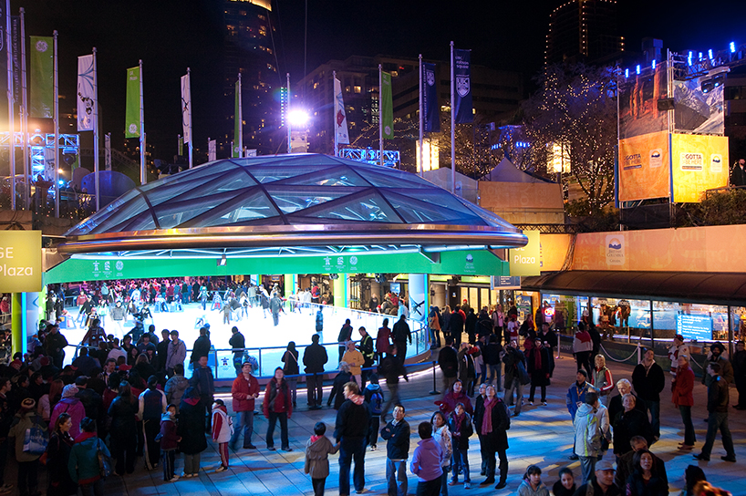 Robson Square in B.C. (Photo courtesy Tourism Vancouver, Coast Mountain Photography)