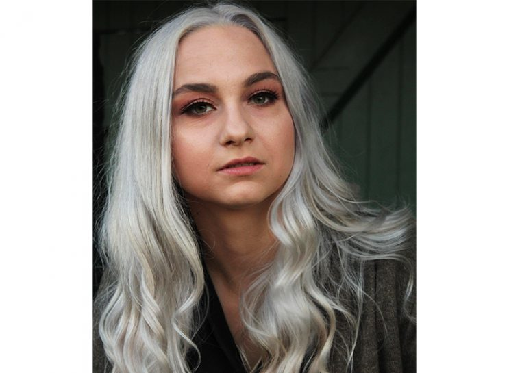 Instagram Casting Scams: A headshot of Sara Leslie Hamilton, a young woman with long, white-blonde hair