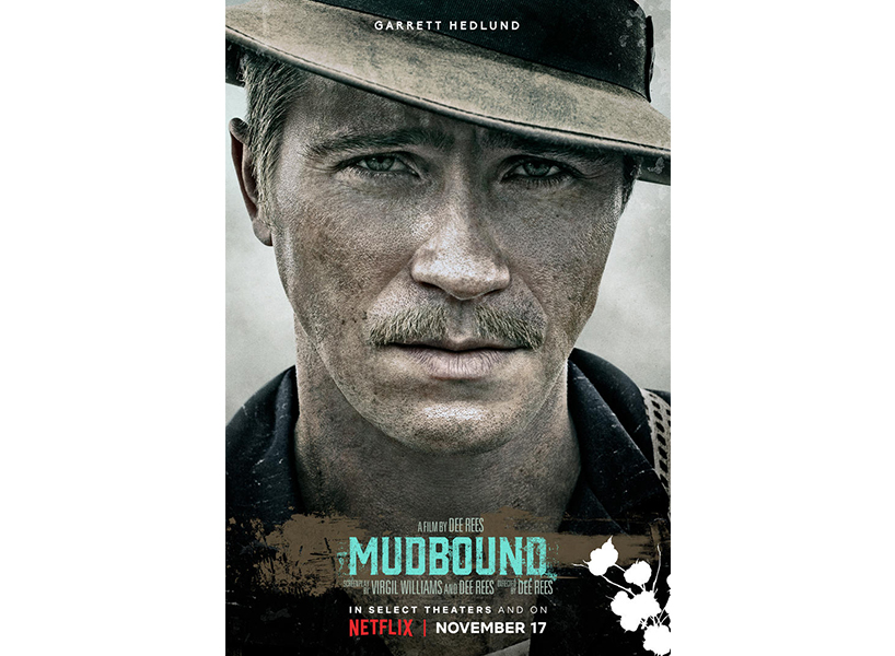 Garrett Hedlund on the poster for film Mudbound