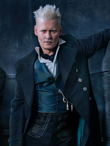The Crimes of Grindelwald trailer: Johnny Depp in the trailer for The Crimes of Grindelwald with white hair, a white mustache and coloured contacts and an old-timey suit