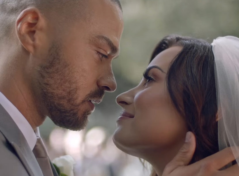 "Jesse Williams and Demi Lovato in the music video for ""Tell Me You Love Me"""
