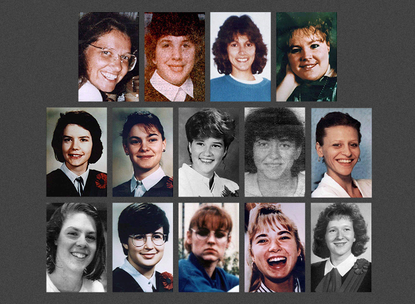Montreal Massacre: The 14 women killed during the 1989 École Polytechnique shooting.