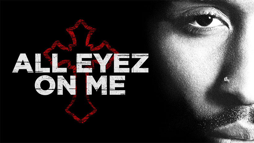 The poster artwork for the film about Tupca Shakur's life, All Eyez On Me