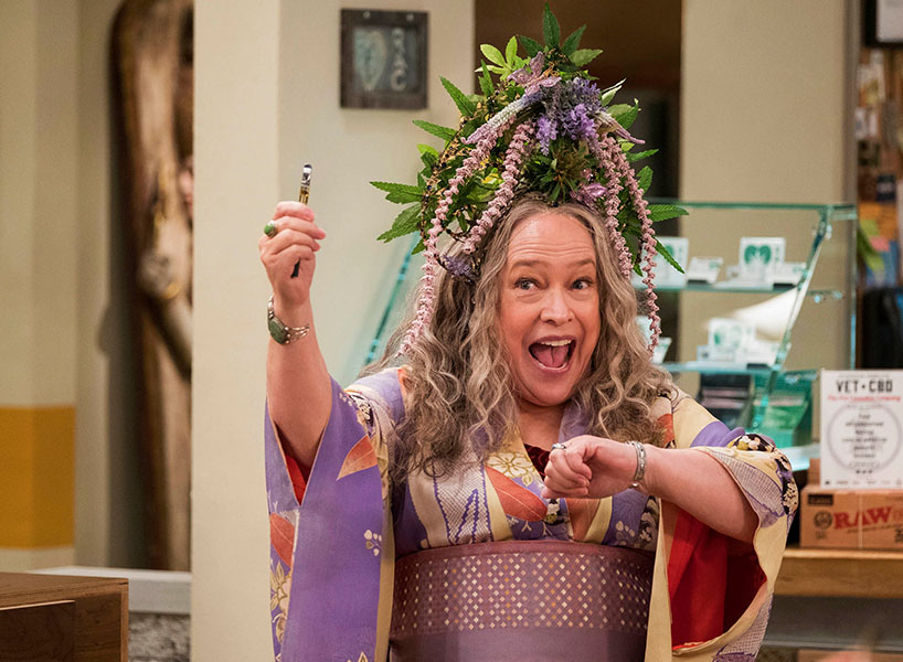 Kathy Bates in a scene from the series Disjointed