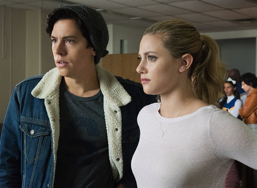 Cole Sprouse and Lili Reinhart in a still from Riverdale, Season 2