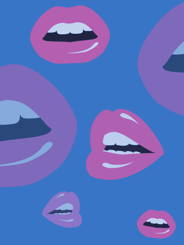 graphic design of lips