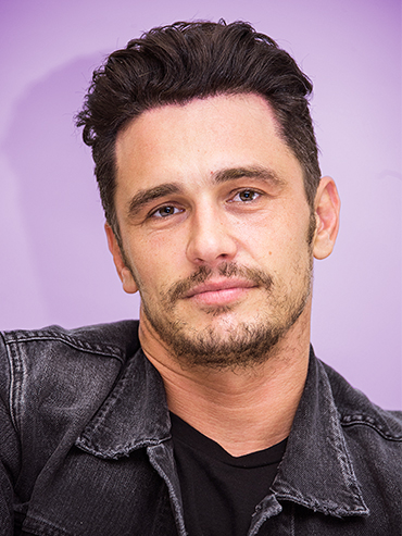 Actor James Franco with a serious look on his face