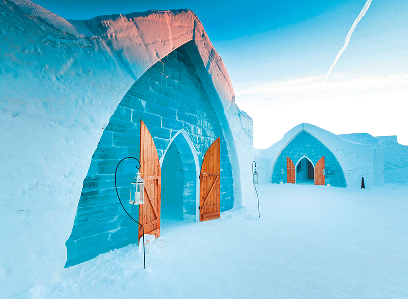 The best winter activities in Canada include the ice hotel in Quebec