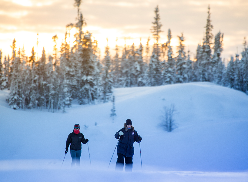 The best winter activities in Canada include cross country skiing in NWT