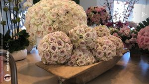 Bunches of roses and assorted flowers that were gifted to Kim Kardashian.