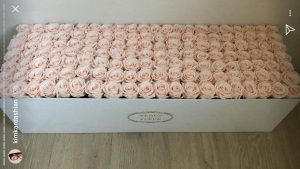 Kim Kardashian is gifted with 240 blush roses.
