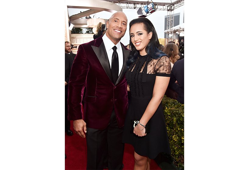 Simone garcia johnson meet the first ever golden globe ambassador simone garcia johnson and her father dwayne the rock johnson at the 2016 golden m4hsunfo