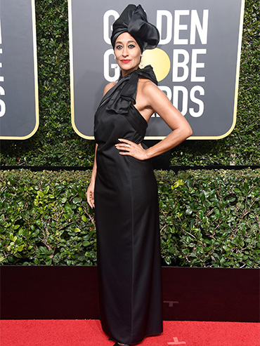 Celebs Who Supported Time's Up by Wearing Black on the Golden Globes Red Carpet