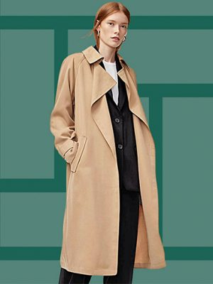 This camel coat is one of the aritzia best selling items