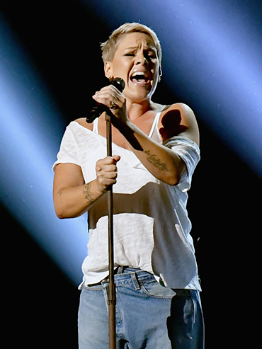 Pink Super Bowl 2018: Pink sings onstage at the 2018 Grammy awards