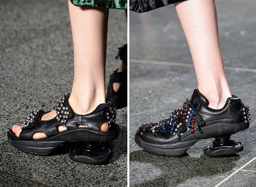 Both pairs of Christopher Kane ugly shoes