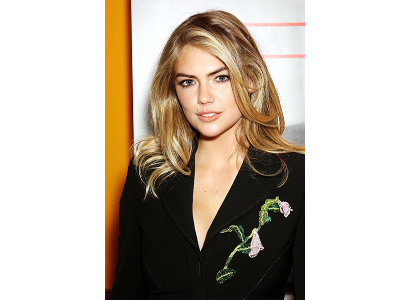 Model Kate Upton with long hair
