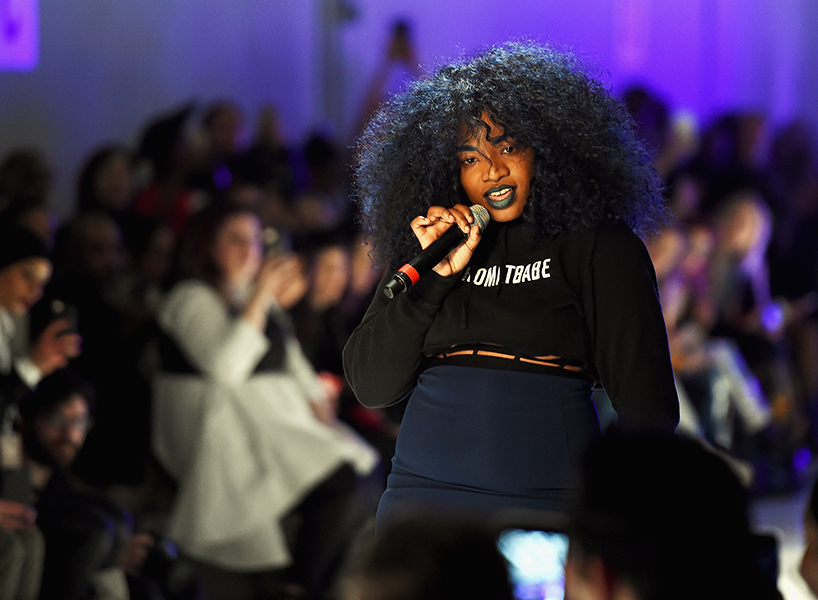 UNIIQU3 performs during the Chromat collection at New York Fashion Week: The Shows at Gallery 3, Skylight Clarkson Sq on February 10, 2017 in New York City