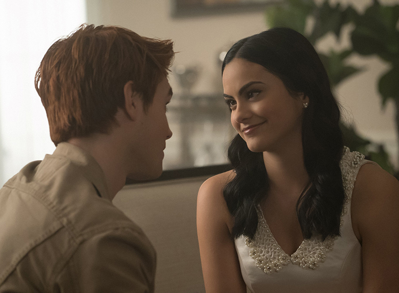 Riverdale Season 2 Episode 12: Veronica and Archie smile at each other