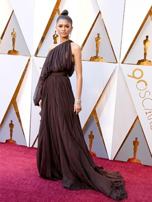 Zendaya on the Oscars 2018 red carpet