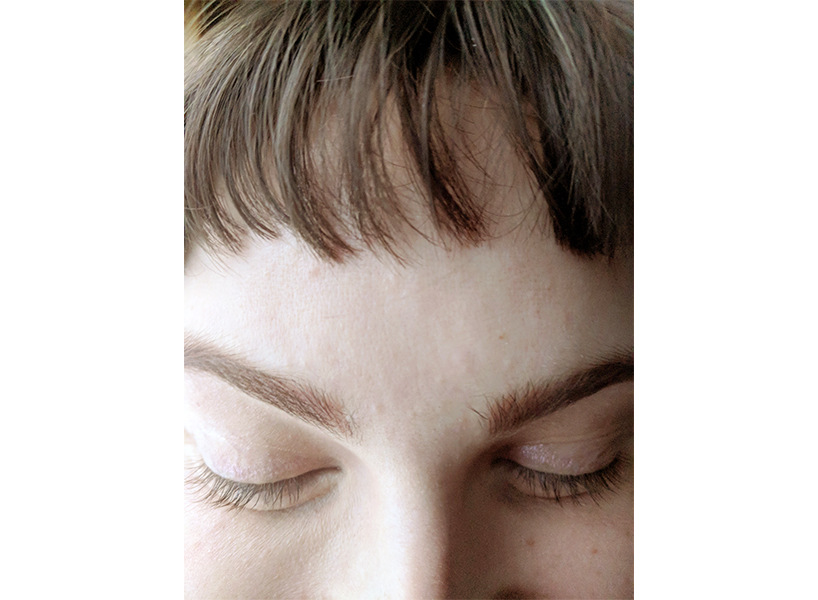 The results of Sarah Ratchford's microblading fading