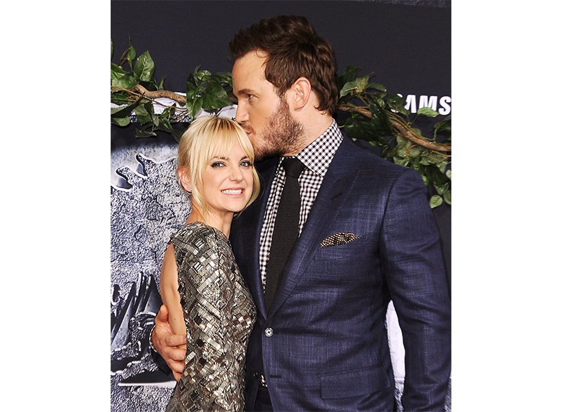 Actor Anna Faris with ex-husband Chris Pratt