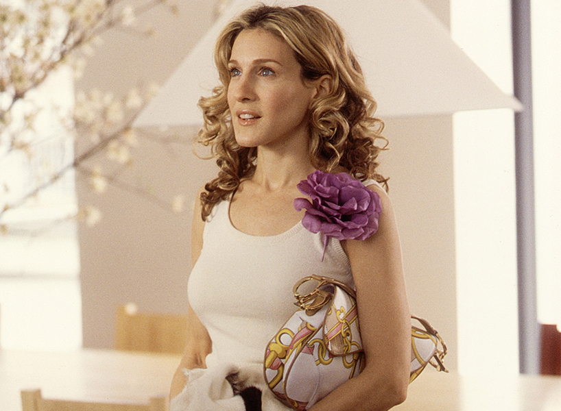 Carrie Bradshaw saddle bag: Sarah Jessica Parker in a still from Sex and the City