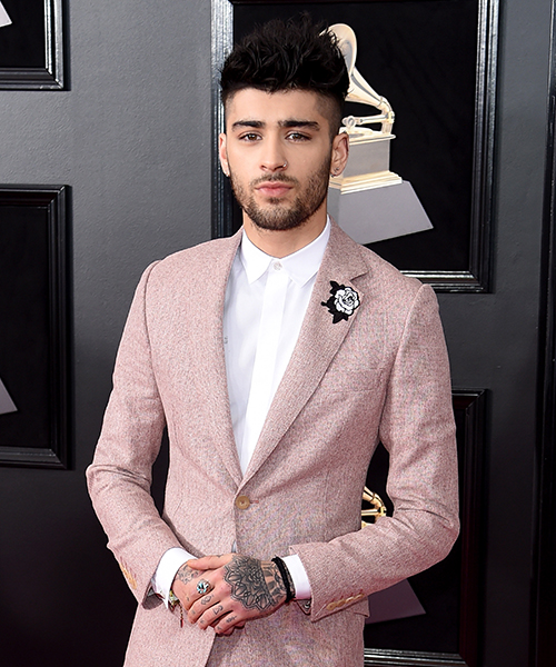 Recording artist Zayn Malik attends the 60th Annual GRAMMY Awards at Madison Square Garden on January 28, 2018