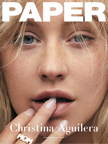 Paper Magazine's April 2019 cover featuring a makeup free Christina Aguilera-homepage