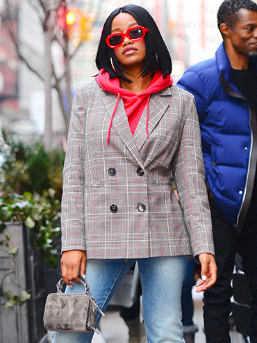 Keke Palmer Layering Sweaters and Blazer