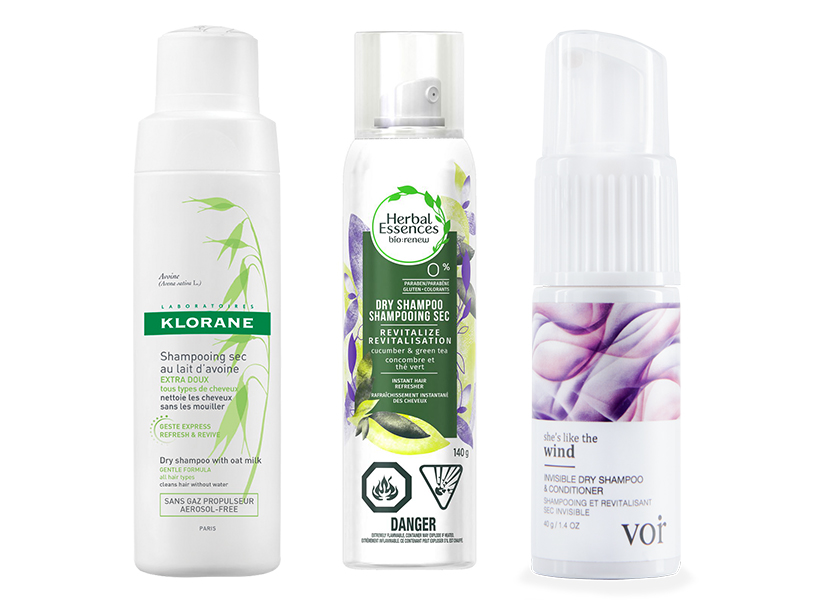 Klorane, Herbal Essences and Voir dry shampoos which are used to achieve the pastel hair trend