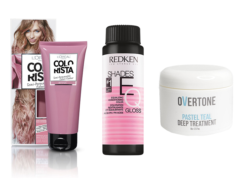 L'Oréal Paris Colorista, Redken Shades EQ, Overtone Deep Treatment are some products you can use to achieve the pastel hair trend