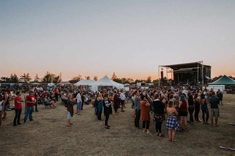 A picture of one of the summer music festivals in Saskatchewan