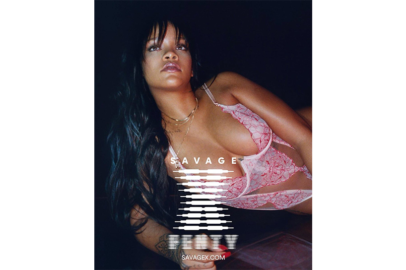 The main campaign shot from Rihanna Savage Fenty Lingerie