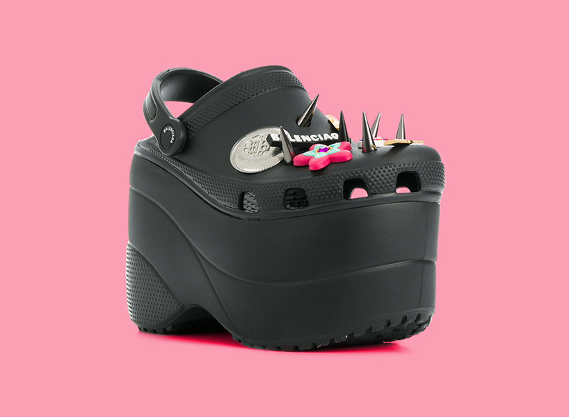 af6a4ac92ac686 Balenciaga platform crocs embellished with studs. Behold  the ugly shoe ...