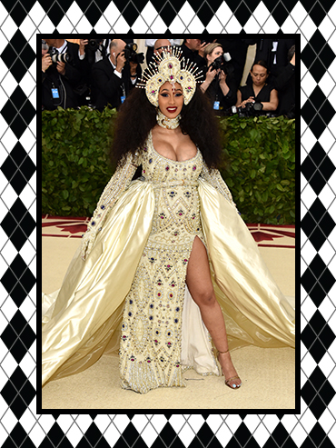 Cardi B on the Met Gala Red Carpet 2018