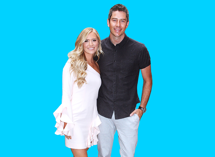 Lauren B and Arie from the Bachelor posing next to each other