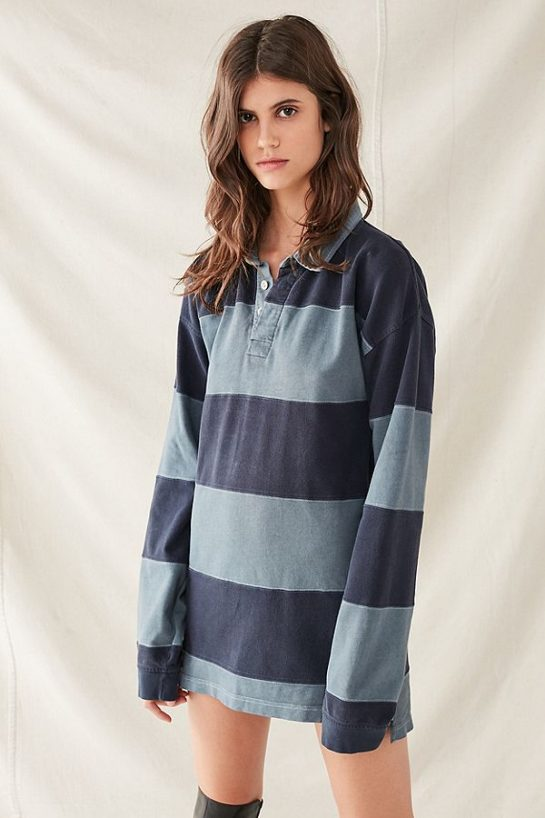 """<p>Urban Renewal Remade Overdyed Rugby Shirt Dress, $65, <a href=""""https://www.urbanoutfitters.com/shop/urban-renewal-remade-overdyed-rugby-shirt-dress"""">urbanoutfitters.com</a></p>"""