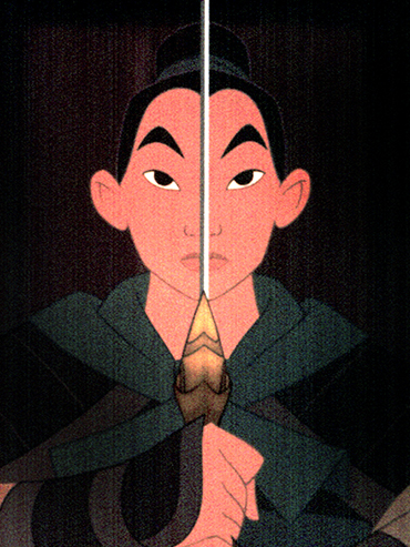 Disney's Mulan holds up a sword in front of her face. The Mulan live-action remake will premiere in 2020 and feature an all-new cast.